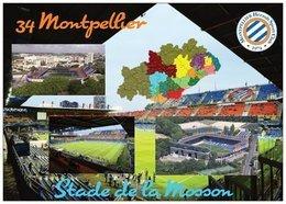 Stade De Football - Stade De La Mosson - MONTPELLIER - Carte Géo De L'Hérault - Cpm - Vierge - - Voetbal
