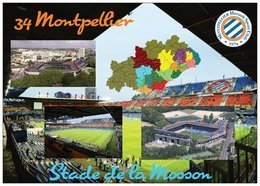 Stade De Football - Stade De La Mosson - MONTPELLIER - Carte Géo De L'Hérault - Cpm - Vierge - - Football