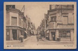 MONTRICHARD   Rue National Devantures De Magasins    Animée    écrite En 1948 - Montrichard