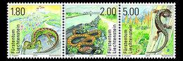 Liechtenstein 1694/96 Reptiles, Serpent, Lézard - Reptiles & Batraciens