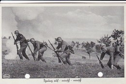 AK Sprung Auf - Marsch - Marsch - Deutsche Soldaten Im Angriff - Unser Heer - Feldpost 1940 (45703) - Guerra 1939-45