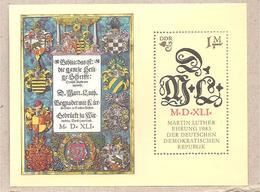 DDR - Foglietto Nuovo Michel Block 73: The 500th Anniversary Of The Birth Of Martin Luther - 1983 *G - Nuovi