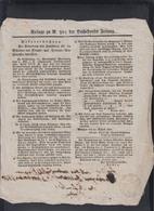 Beilage Zu Der Düsseldorfer Zeitung 1820 - Historische Dokumente