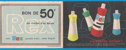 VAISSELLE ECLAIR REX BON REDUCTION 50F / COTELLE & FOUCHER PARIS - Publicités