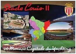 Stade De Football - Stade Louis II - MONACO - Carte Géo Des Alpes Maritimes -  Capitale Du Yatching - Cpm - Vierge - - Soccer
