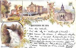 Souvenir De Spa - Litho Précurseur Colorisée Ed. Valentine Engel 1902 - Spa