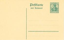 Allemagne Entier Postal Type Germania Avec Réponse Mit Antwort - Deutschland