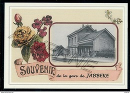 JABBEKE    .....  2 Cartes Souvenirs Gare ... Train  Creations Modernes Série Limitée - Brugge