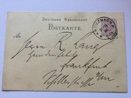 K8 Deutsches Reich Ganzsache Stationery Entier Postal P 12 Von Kreuznach - Enteros Postales