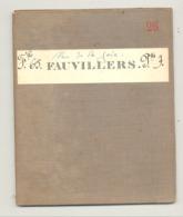 Carte De Géographie Toilée - FAUVILLERS  1879 - Levée Et Nivelée 1869 (b271) - Geographical Maps
