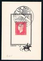 FRANCE - Obl. Temporaire LIBERATION DE PARIS De Nov 1944 - Marianne Dulac Sur Carton Souvenir 70x100 Du Musée Carnavalet - Frankreich