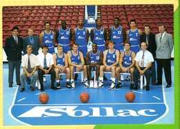 GRAVELINES Equipe Du Basket Club Maritime 94/95 Renseignents De L'equipe Au Recto Joueurs Entraineur President - Gravelines