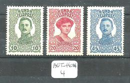AUT-HON YT 69/71 En X - Unused Stamps