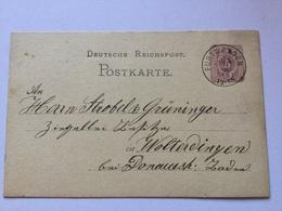 K8 Deutsches Reich Ganzsache Stationery Entier Postal P 5I/02 Von Furtwangen - Germany