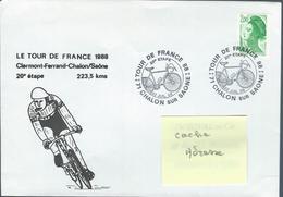 Tour De FRANCE 1988 - 20° étape Clermont-Ferrant - Chalon Sur Saône - Radsport