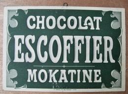 CARTON CHOCOLAT ESCOFFIER MOKATINE / A. MERLE 40 RUE MASSENA LYON - Pappschilder