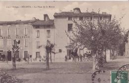 09 BÉLESTA ARIÉGE LA PLACE DE LA MAIRIE UN ATTELAGE TRES AMINÉES EN BON ÉTAT - France