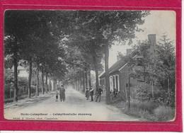 KALMTHOUT :  HOELEN-CALMPTHOUTSCHE STEENWEG-MET VOLK - Kalmthout