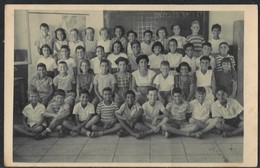 "Israel Ramat Gan ""Pardes"" School Group Picture Children 1954 - Judaica Juif Juive ""Naomi Mansour"" - Photo ""Jond"" - Giudaismo"
