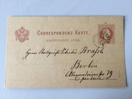 SCH Österreich Ganzsache Stationery Entier Postal P 26b Von Johannesbad Nach Berlin - Entiers Postaux