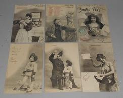 Fantaisies Illustrateurs Bergeret : Lot De 15 Cartes Postale :::: Portraits Hommes Femmes Enfants  --------- 516 - Bergeret