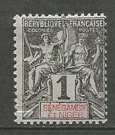 SENEGANBIE N° 1 NEUF*   CHARNIERE   / MH - Senegambia Y Niger (1903-1906)
