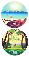 83 - Lot De 2 Sticker Autocollant: SAINT RAPHAËL - Tbe, Neufs - Golf - Unclassified