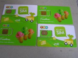 4 X THAILAND Expired SIM Card  Unused - Tailandia