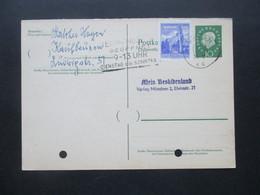 BRD 1961 Heuss Ganzsache Antwortkarte P 51 A Mit Österreichischer Zusatzfrankatur Und Stempel Wien - Lettres & Documents