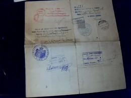 Vieux Papier (  Marcophilie) Passeport   à L 'étranger Pour La Turquie D Un  Roumain Résidant En France Année 1903? - Vecchi Documenti