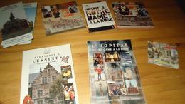 Lessines : 6 Brochures   (tourisme + Hôpital Notre Dame à La Rose (voir Photo) - Cultural