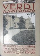OPERA..Verdi A Sant'Agata... 12 Cartoline Illustrate Metlicovitz - Cantanti E Musicisti
