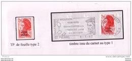 2F20 LIBERTE St Pierre ET MIQUELON  Type 2 Et TYPE 1 SUR LETTRE - St.Pierre & Miquelon