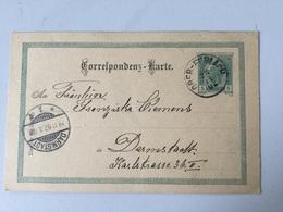 SCH Österreich Ganzsache Stationery Entier Postal P 130 Von Ober-Ferlach Nach Darmstadt - Stamped Stationery