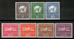 Switzerland 1955 Suiza / United Nations Service Stamps UNO MNH Sellos Oficiales Naciones Unidas / Km03  29-16 - ONU