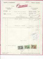 TURNHOUT: CREMERS-OUDE DOCUMENTEN-FACTUUR - Imprimerie & Papeterie