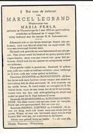 DP 9126 - MARCEL LEGRAND - VLAMERTINGE 1879 + KEMMEL 1961 - Imágenes Religiosas