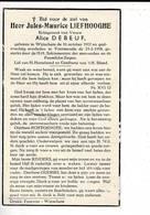DP 9127 - JULES LIEFHOOGHE - WIJTSCHATE 1912 + VOORMEZELE 1958 - Images Religieuses