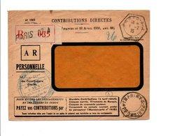 OBLITERATIONS PARIS X -A- ET IMPRIMES PARIS PORT PAYE 9 SUR LETTRE RECOMMANDEE EN FRANCHISE 1935 - Marcofilie (Brieven)
