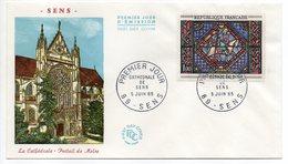 """FDC --1965-SENS--89--""""Cathédrale--Portail De Moise--vitrail"""" --cachet  SENS - 89 -- .......à Saisir - FDC"""