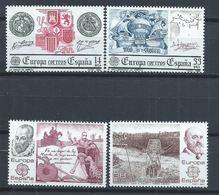 Espagne YT 2285-2286 + 2319-2320 XX / MNH Europa 1982-1983 - 1931-Today: 2nd Rep - ... Juan Carlos I