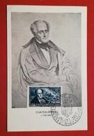 FRANCE - CARTE MAXIMUM - 1948 - CHATEAUBRIAND - N°816 - Maximumkaarten