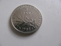 France : 1 Franc 1982   - Prix : 11,50 €  Très Bel état - France