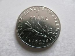 France : 1 Franc 1983   - Prix : 12,50 €  Très Bel état - France