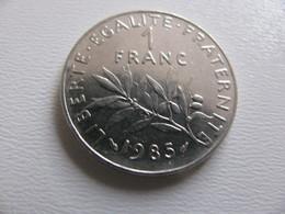 France : 1 Franc 1985   - Prix : 1,50 €  Très Bel état - France