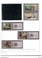 URSS - SG 4740.4744 - 1978  B.M. KUSTODIEV PAINTINGS  (COMPLET SET OF 5; 3 WITH LABELS)  - USED°  - RIF. CP - 1923-1991 USSR