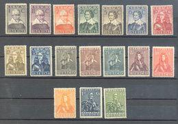 Curacao - 1934 Dutch Colony Mint Hinged Michel No. 125-141 - Niederländische Antillen, Curaçao, Aruba
