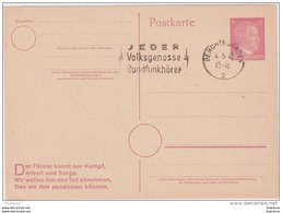 Entier Postkarte Jeder Volksgenosse Rundfunkhörer Berchtesgaden 1945 Reich - Allemagne