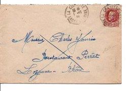 PETAIN SUR LETTRE DE LA CLAYETTE SAONE ET LOIRE 1944 - Marcophilie (Lettres)