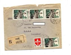 Lettre Recommandée Vire Sur Quesnoy - Poststempel (Briefe)